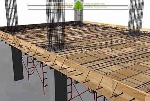 قالب بندی و فیکس کردن دیواره های سقف