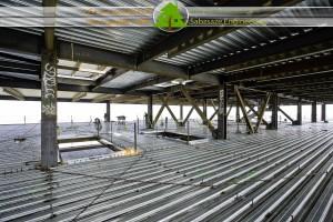 سقف کامپوزیت با عرشه فولادی